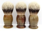 QED Select Natural Horn silvertip badger 24mm knot