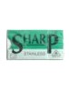 Sharp SS Polymer coated DE razor blades