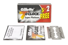 7 o'clock (Black) Super Platinum DE razor blades