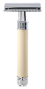 Edwin Jagger Double Edge Safety Razor - Rubber Coated Ivory