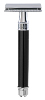 Edwin Jagger Double Edge Safety Razor - Black (Long)