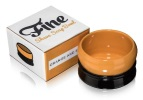 Fine Stoneware Shaving Soap Bowl - Orange/Black