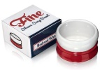 Fine Stoneware Shaving Soap Bowl - Red/White