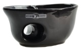 Gold Dachs Ceramic Shaving Mug with brush rest BLACK