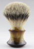 QED Select Faux Horn Manchurian silvertip badger 24mm knot